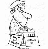 Homeless Cartoon Apples Coloring Vector Sell Person Clipart Poor Drawing Trying Outlined Broke Royalty Getdrawings Leishman Ron Unemployed Graphic sketch template