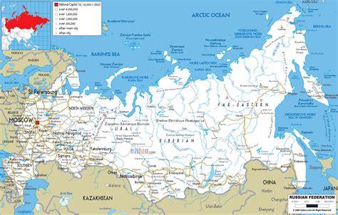 road map  russia ezilon maps
