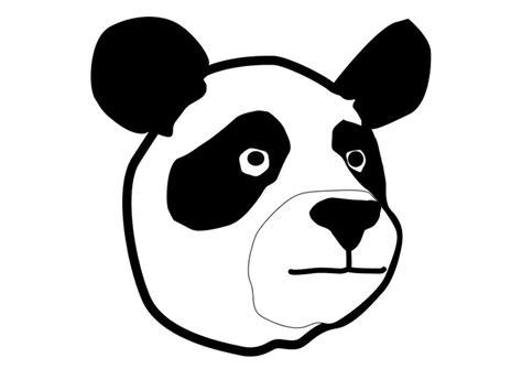 Dierenmasker Kleurplaat Panda by Kleurplaat Panda Afb 10322