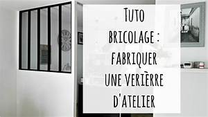 Fabriquer Une Cloison Amovible : fabriquer une verri re d 39 atelier cloison fait maison youtube ~ Melissatoandfro.com Idées de Décoration