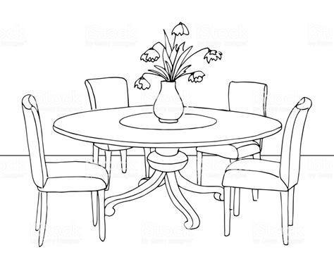 dining room clipart black and white part of the dining room table and chairson the table