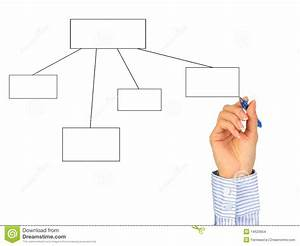 Hand Drawing Diagram  Stock Images