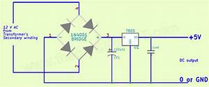 Ac To Dc 5v Regulated Power Supply