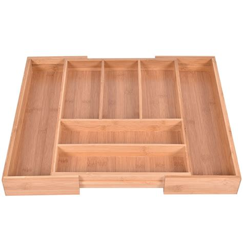 Kitchen Drawer Containers by Bamboo Kitchen Drawer Organizer Expandable Tableware