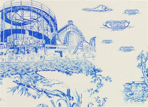 brooklyn toile wallpaper cool material