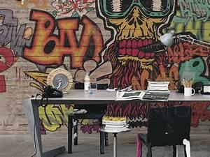 Carta da parati Graffiti Murales colori e fantasia
