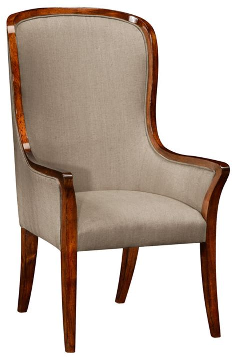 jonathan charles high curved back upholstered dining