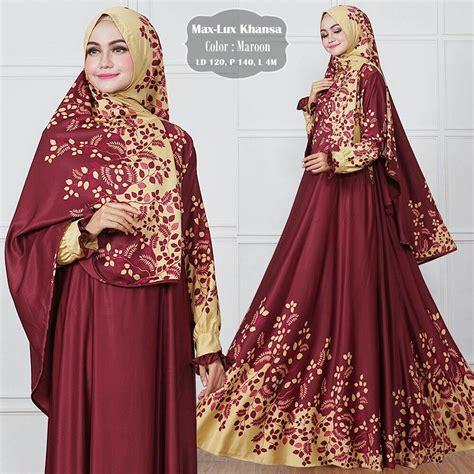 baju gamis jumbo maxmara modern khansa syari jual gamis modern