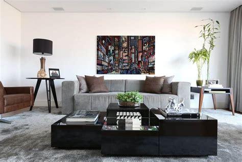 sala sofa marrom e parede cinza sof 225 cinza 70 modelos de decora 231 227 o para inspirar voc 234