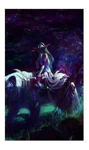 Female character on white tiger, fantasy art, Tyrande ...