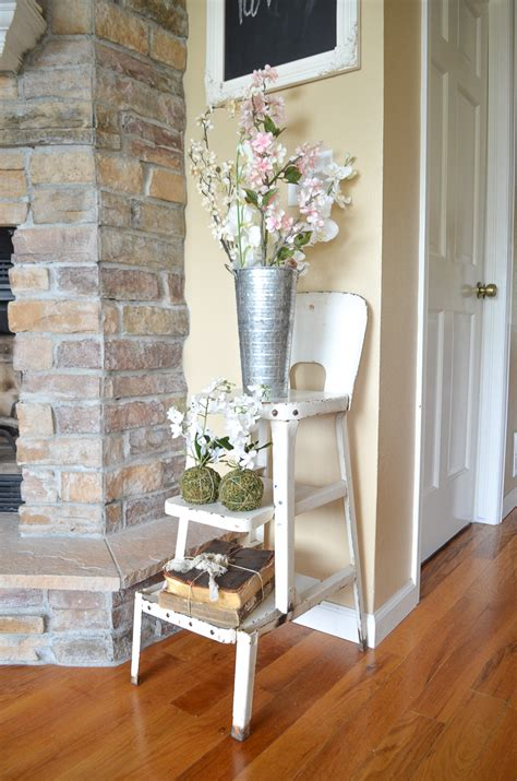 simple spring decor   living room