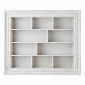 Etagere Blanche Et Bois : tag re en bois blanche l 110 cm faustine maisons du monde ~ Teatrodelosmanantiales.com Idées de Décoration