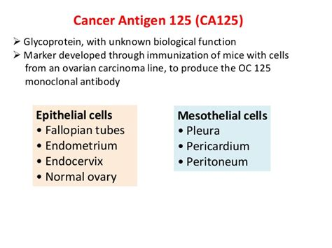 ca 125 marker normal range tumour markers