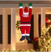 Outdoor Party Lights Walmart by Hanging Santa Christmas Decoration