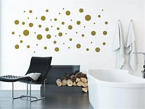 Farbtöne Zum Streichen : kreative klebepunkte wandtattoo dots als deko punkte ~ Sanjose-hotels-ca.com Haus und Dekorationen