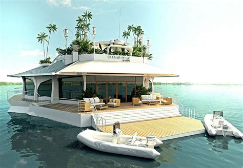yacht island amazing floating island boat fan tas tic
