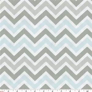 Mist and Gray Chevron Fabric by the Yard Gray Fabric