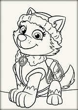 Coloring Gypsy Pages Paw Patrol Example Print Sheets Julia sketch template