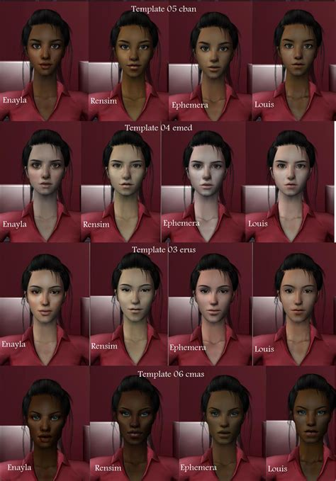 the sims 2 face replacement templates default replacement face templates ts2 genetics