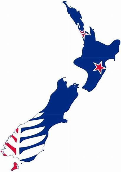Zealand Flag Map Kyle Lockwood Silhouette Transparent