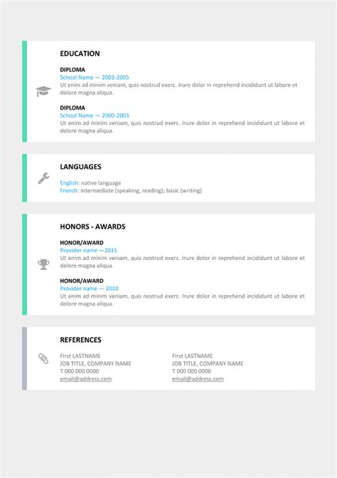 Free Word Resume Templates Modern by Le Marais Free Modern Resume Template