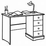 Coloring Pages Desk Para Colorear Mesa Task Escritorio Estudio Desktop Tareas Template October sketch template
