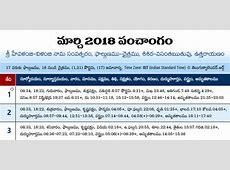 Telugu Calendar 2018 Festivals Holidays Telugu Rasi