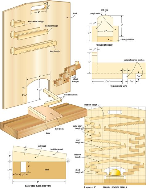marble drop game diy woodworking projects wood