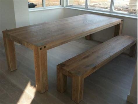 eettafel met opbergruimte houten gezins tafel met bankje werkspot