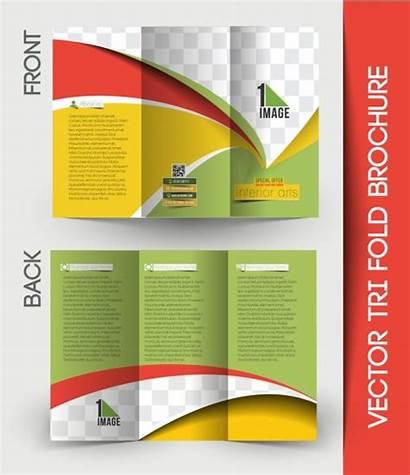 Brochure Fold Tri Designer Interior Trifold Empty
