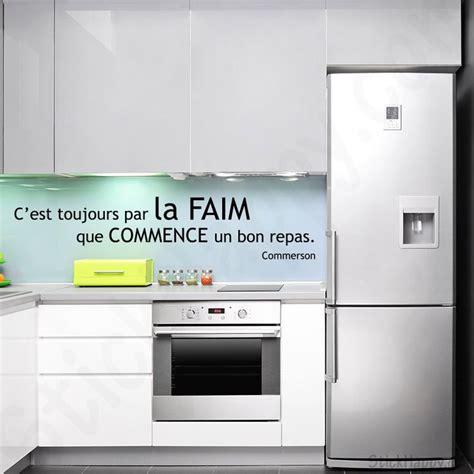 stickers ecriture pour cuisine stickers citation faim c 39 est toujours par la faim que