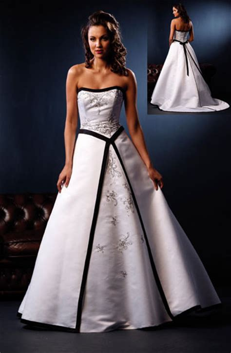 white dress wedding black and white wedding dress decoration designs wedding dress