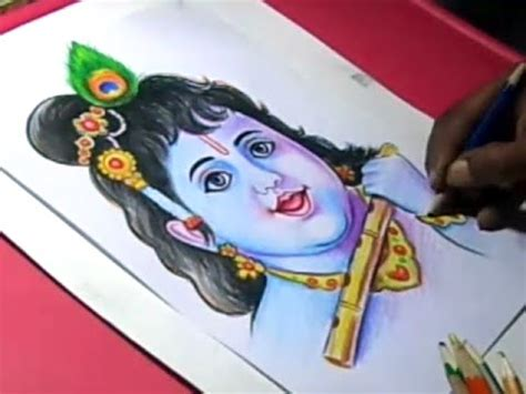 draw lord krishna color painting step  step youtube