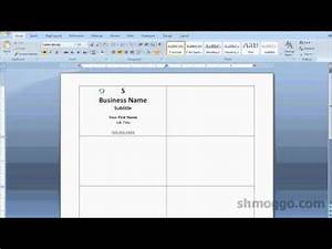 Printing business cards in word video tutorial youtube for Print business cards in word