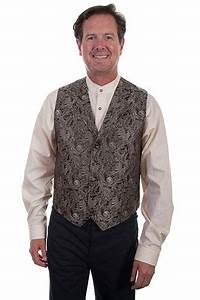 Scully Notched Collar Scroll Pattern Vest Brown Men 39 S