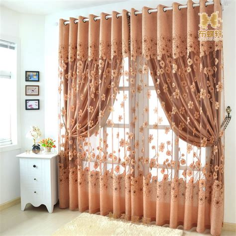 window panel curtains living room embroidered tulle
