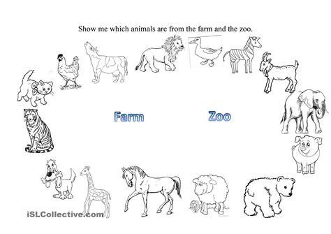 farm and zoo animals farm animal worksheets zoo animal activities zoo animals