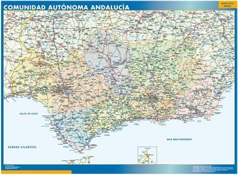 andalusien karte spanien wandkarten und landkarten aus