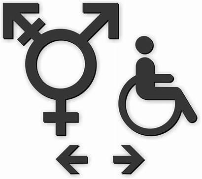 Neutral Sign Gender Se Restroom Symbol Handicap