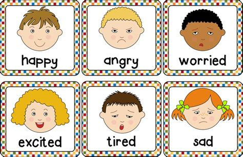 6 best images of printable emotion cards free printable 188 | printable emotions cards 383258