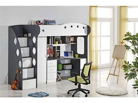 lit superpose avec bureau integre conforama lit mezzanine 90x190 cm coloris blanc gris vente de lit enfant conforama