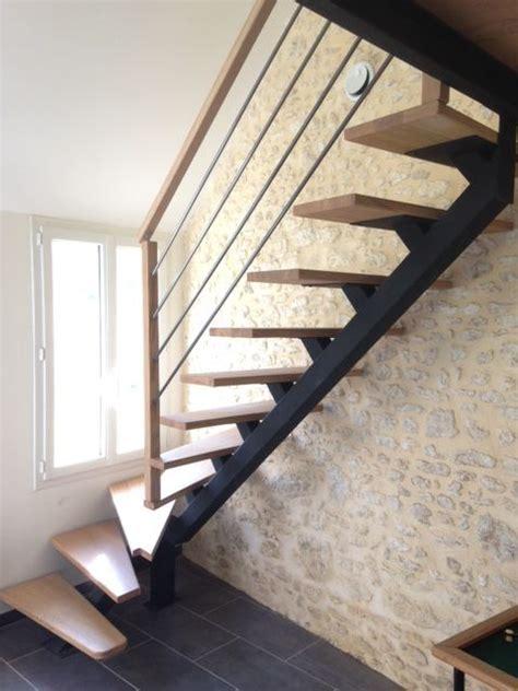 Escalier En Metal Interieur Escalier M 233 Tallique Et Bois Escalier Sur Mesure 224 Limon