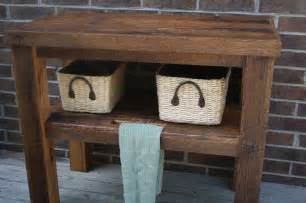 Bathroom Towel Holder Ideas Your Custom Rustic Barn Wood Vanity Shelf Or Table Free