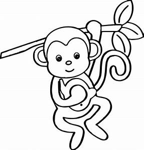 Cartoon Animals Kids Monkey Coloring Page Wecoloringpagecom