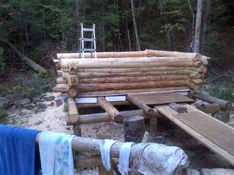 log cabin sauna project small cabin forum