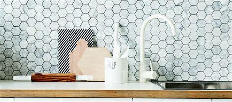 hexagon tile kitchen marble hexagon tile backsplash future kitchen pinterest we hexagons and home
