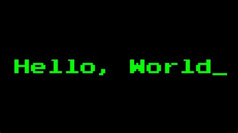 Hello, World Program In 35 Languages  Youtube