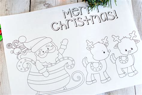 Free Printable Christmas Coloring Pages - Crazy Little