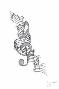 Music Treble Clef Tattoo Design