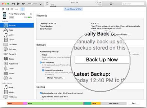 backing up iphone to itunes 3 different ways to back up iphone data 1522